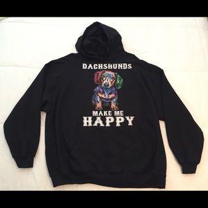 Gildan, Heavy Blend, 3XL Black Hooded Sweatshirt